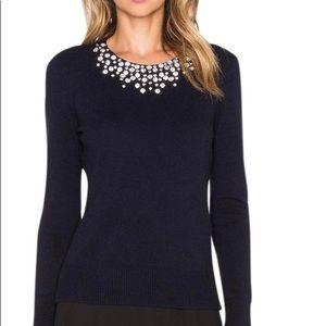 Kate spade do wonders black embellished sweater